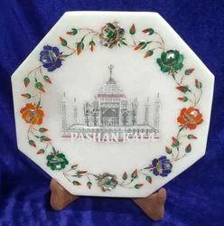 Marble Taj Mahal Decorative Plate