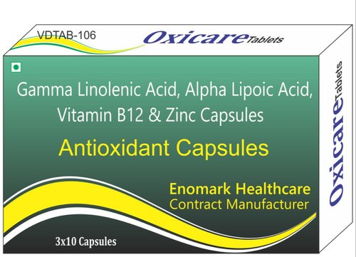 Gamma-Linolenic Acid And Alpha-Lipoic Acid Vitamins B12