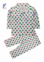 Cotton Printed POLKA DOTTED KIDS NIGHT SUITS