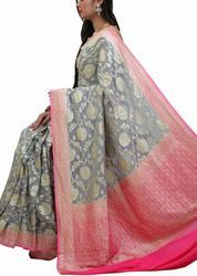 Banarasi Silk Saree with Blouse Piece, Saree Length: 5.5 m