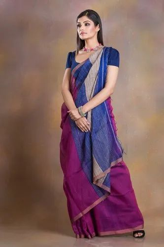 d905ab968f Party Wear Silk Cotton With Gicha Pallu Saree, With Blouse, Rs 1950 ...