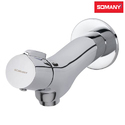 Stainless Steel Somany Pablo Bib Cock With Wall Flange For Bathroom Fitting