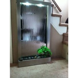 Multicolor Transparent Waterfall Glass, For Indoor