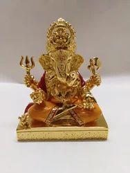 Golden Resin Ganesh Statue