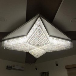 Ceiling Mounted 2 To 4 Feet LED Crystal Chandelier