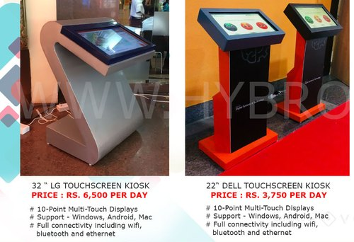 10-55 Rental Touch Screen Kisok & Monitor, Rs 3750 /number