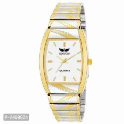Golden Analog Watch With Metal Strip for Personal Use