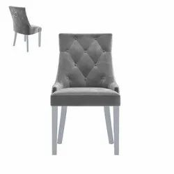 Gharnish Luxury Dining Table Chair with High Quality Velvet Fabric and Teakwood Legs- GHDC003