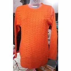 Diksha Orange Woolen Top