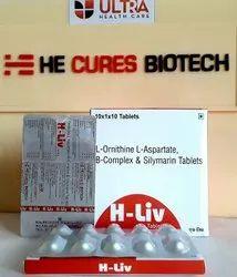 L-ornithine l-Aspartate 250 Mg B-Complex & Silymarin Tablet