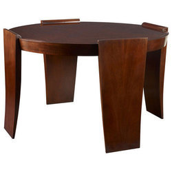 Brown Wooden Designer Round Central Table