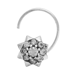SHNP208 925 Sterling Silver Nose Pin
