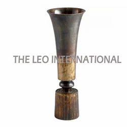 Antique Finish Aluminium Vase Long Shape