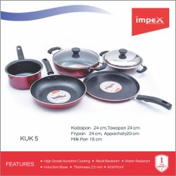 Impex 5 In 1 Nonstick Cookware (KUK 5)