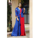 Rayon Long Kurti With Jacket