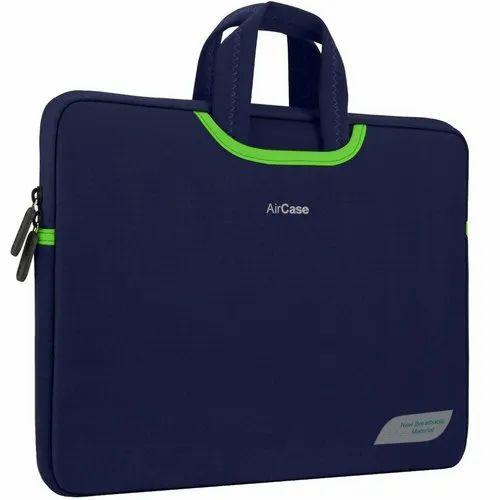 f59b52b1d1d9 Aircase 15.6 Inch Designer Neoprene Protective Handle Sleeve For Laptops  (navy Blue)