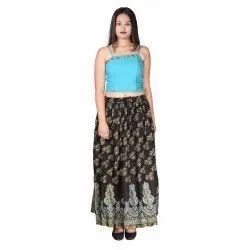 Ladies Printed Rayon Skirt
