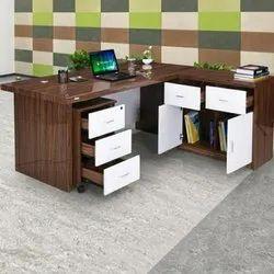 L Shape Wooden Office Tables, Warranty: 2 Year