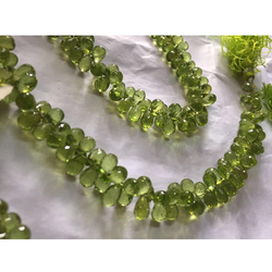 Peridot Micro-Faceted Bead