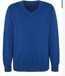 Blue School Sweater