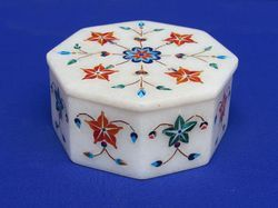 Handcrafted Indian Marble Inlay Box