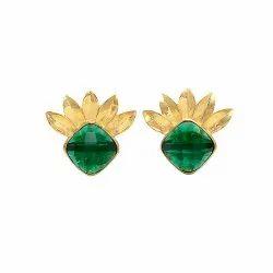 Emerald Hydro Stud Earring