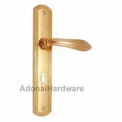 Lamech Brass Door Handle with Plate