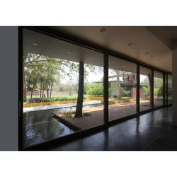 Modern Brown Lixil Aluminium Sliding Window