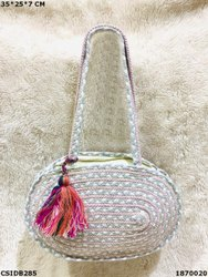 Designer Jute & Dari Cotton Handbag