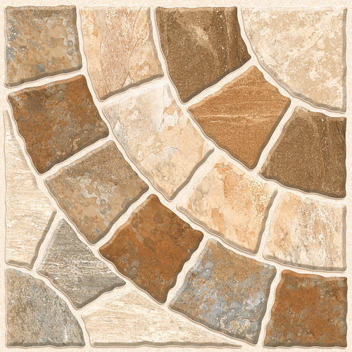 Natural Stone Designer Vitrified Parking Floor Tile, Size
