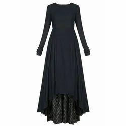 Ladies Designer Dark Black Suit