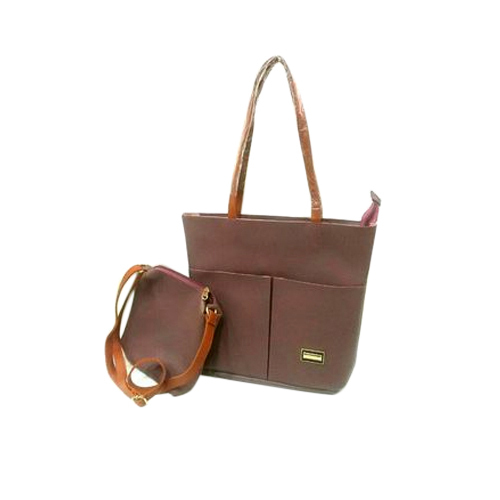 cc38c3eb20 Temptation Maroon And Brown Ladies Hand Bag