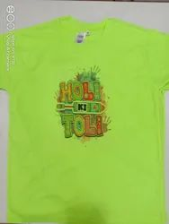 Non branded Polyester Holi T Shirt