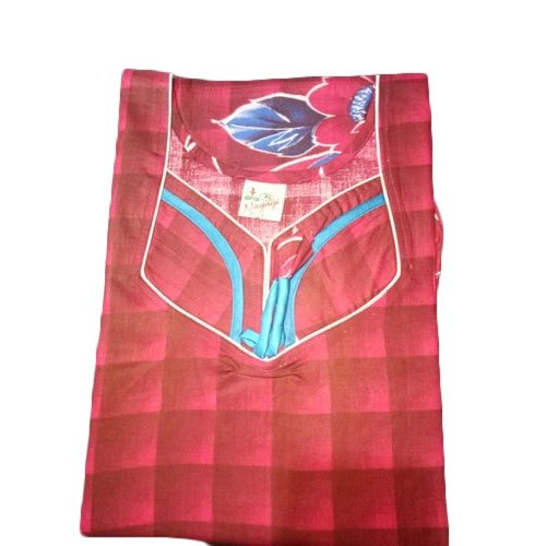 Full Length Cotton Ladies Red Designer Nighty Rs 120 Piece Id 21948962255