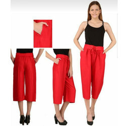 Ladies Cotton Red Chinos