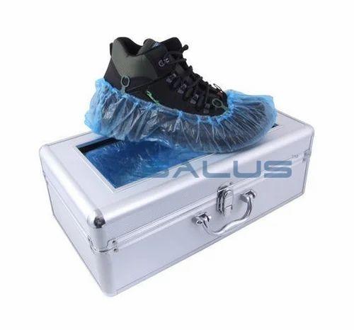 8659c911233 Silver Metallic SALUS Shoe Cover Dispenser Machine