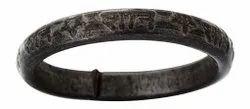 Kesar Zems Kale Ghode Ki Naal Ki Ring with Name of Shani - Free Size - Having Open End