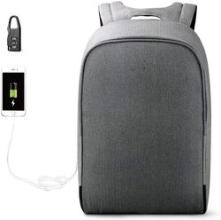 Anva Anti Theft Corporate Gift Waterproof Backpack Bag with USB Charg for Cash, Document & more