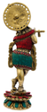 Nirmala Handicrafts Brass Krishna Statue Stone Work Indian God Idol Figurine