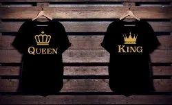 Cotton Black Personalized Sublimation T Shirts, Size: S-XXL