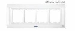 8 Module Horizontal Modular Wall Switch Plate