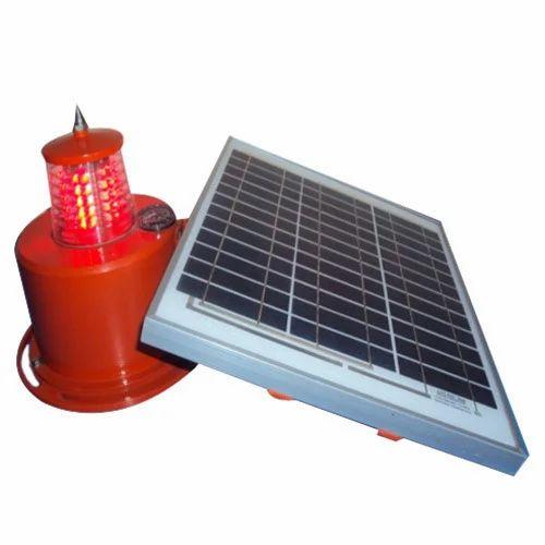 Low Intensity Inbuilt Solar Power Aviation Red Warning Light