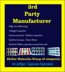 Akshar Molecules Group of Companies Softgel Capsulese 3rd Party Manufacturing