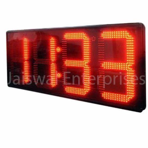 ac08448a495 Black Digital Outdoor Wall Clock