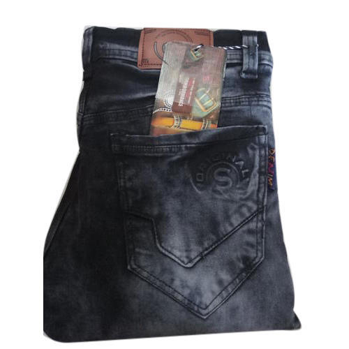 Mens Cotton Faded Jeans