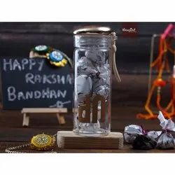Glass Bottle Rakshabandhan Special Chocolate Box, Capacity: 500 gm