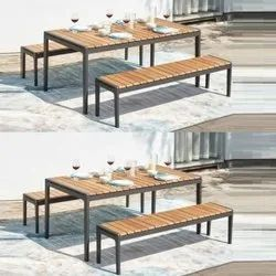 Cafe furniture Dimensions: 180*90*75cm Dining Table and Bench