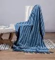 Indigo Printed Mud Cloth Sofa, Bed, Cotton Throw