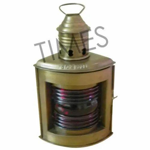 6/'/' Inch Nautical Brass Antique-Style white Glass-Miner Lamp Ship Lantern