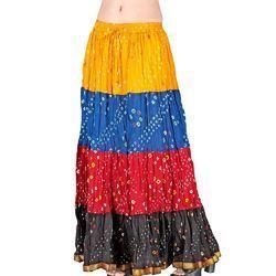 Bandhej Exclusive Cotton Skirt -186